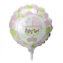Mini-Folienballon Baby Girl
