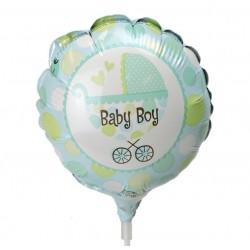 Mini- Folienballon Baby Boy
