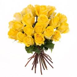 Ein Rosenbund in gelb