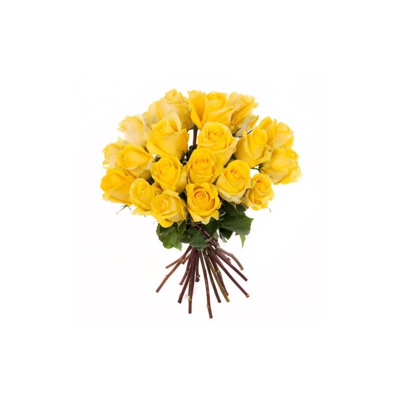 Fabelhaft Rosenstrauss mit gelbe Rosen im Bund gemischt &RK_67