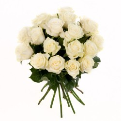 weisse Rosen als Rosenstrauss arrangiert