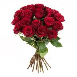 Ein Rosenbund in rot