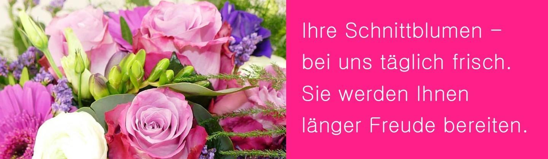 Täglich bestellen wir frische Blumen damit Sie  an unseren Blumensträussen länger Freunde haben können